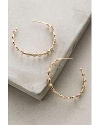 Anthropologie | Metallic Nina Hoop Earrings | Lyst