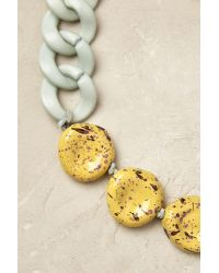 Anthropologie Blue Zoe Chain Necklace