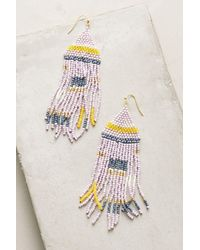 Anthropologie - Multicolor Geo Pastel Drop Earrings - Lyst