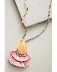 Anthropologie - Pink Tropicalia Tassel Necklace - Lyst