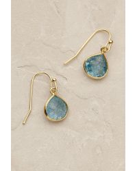 Anthropologie | Blue Dollop Drop Earrings | Lyst