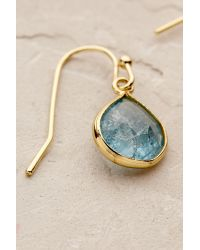 Anthropologie - Blue Dollop Drop Earrings - Lyst