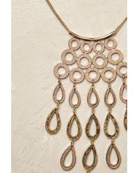 Anthropologie | Metallic Rayna Pendant Necklace | Lyst