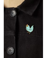 Anthropologie - Blue Boygirlparty Baby Chick Pin Badge - Lyst