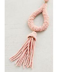 Anthropologie Pink Jasmine Tassel Drop Earrings