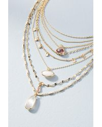 Anthropologie | Pink Ramona Layered Stone Necklace | Lyst