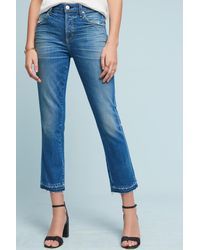 AMO | Blue Babe High-rise Straight Cropped Jeans | Lyst