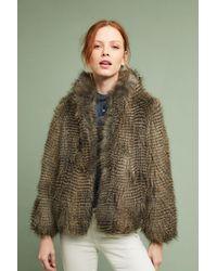 Seen, Worn, Kept Gray Reilly Faux Fur Coat