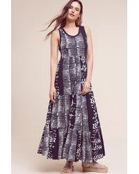 Holding Horses Blue Ismene Printed Maxi Dress