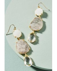 Anthropologie - White Triumverate Drop Earrings - Lyst