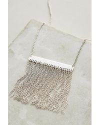 Anthropologie - Metallic Silver Falls Necklace - Lyst