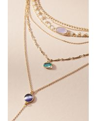 Anthropologie - Blue Ramona Layered Stone Necklace - Lyst