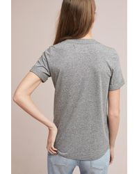 Anthropologie Gray Sol Angeles Moi Graphic Tee