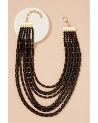 Anthropologie - Black Rushka Layered Bead Necklace - Lyst