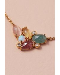 Collier à pendentif serti de pierres Anthropologie en coloris Metallic