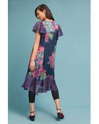 Maeve Multicolor Loren Flutter Sleeve Swing Dress