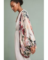 Anthropologie Pink Fly Away Kimono, Neutral