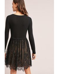 Bailey 44 Black Layered Lacework Dress