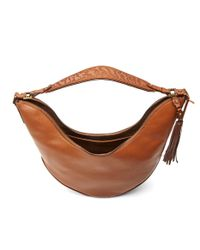 Aquatalia - Brown Slouchy Leather Hobo - Lyst