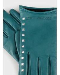 Emporio Armani Green Gloves for men