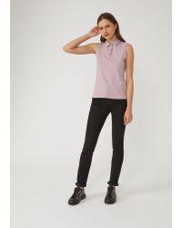 Emporio Armani Gray Polo Shirt