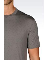 Armani Jeans - Gray Print T-shirt for Men - Lyst