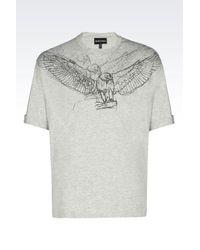 Emporio Armani | Gray Short-sleeve T-shirt for Men | Lyst