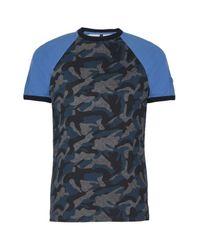 Armani Jeans   Blue Print T-shirt for Men   Lyst