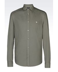 Armani Jeans | Gray Long Sleeve Shirt for Men | Lyst