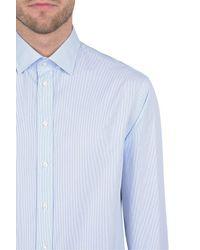 Armani   Blue Long Sleeve Shirt for Men   Lyst