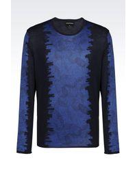 Emporio Armani | Blue Crewneck Sweater for Men | Lyst
