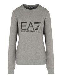 EA7 | Gray Crewneck Sweatshirt | Lyst