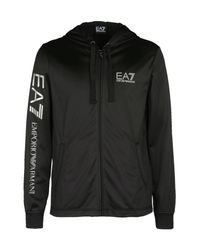 EA7 | Black Hooded Sweatshirt for Men | Lyst