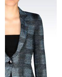 Armani - Blue One Button Jacket - Lyst