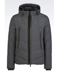 Armani Jeans | Gray Down Coat for Men | Lyst