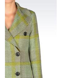 Emporio Armani Green Double-breasted Coat