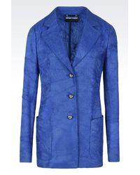 Emporio Armani   Blue Three Buttons Jacket   Lyst