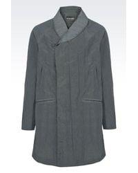 Emporio Armani | Green Coat for Men | Lyst