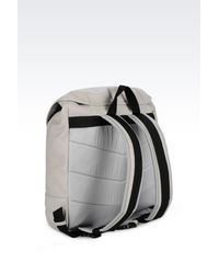 Emporio Armani Gray Backpack for men