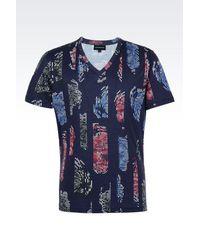 Emporio Armani | Blue Short-sleeve T-shirt for Men | Lyst