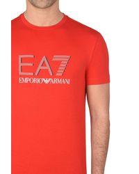 EA7 - Red Short Sleeved T-shirt for Men - Lyst