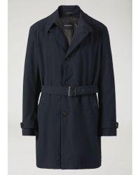 Emporio Armani Blue Trench Coat for men