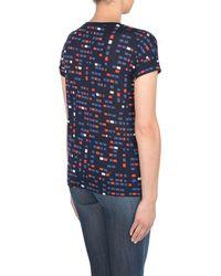 Armani Jeans - Blue Print T-shirt - Lyst