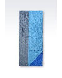 Armani Jeans - Blue Scarf - Lyst