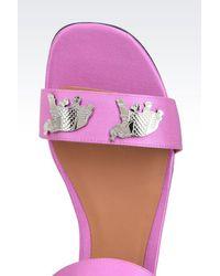 Emporio Armani | Purple Sandal | Lyst
