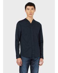 Emporio Armani Blue Casual Shirt for men