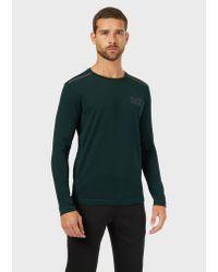 T-shirt di Emporio Armani in Green da Uomo