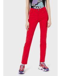 Emporio Armani Red Skinny Jeans