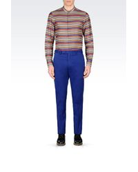 Armani - Blue Casual Trouser for Men - Lyst