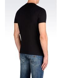 Armani Jeans | Black Print T-shirt for Men | Lyst